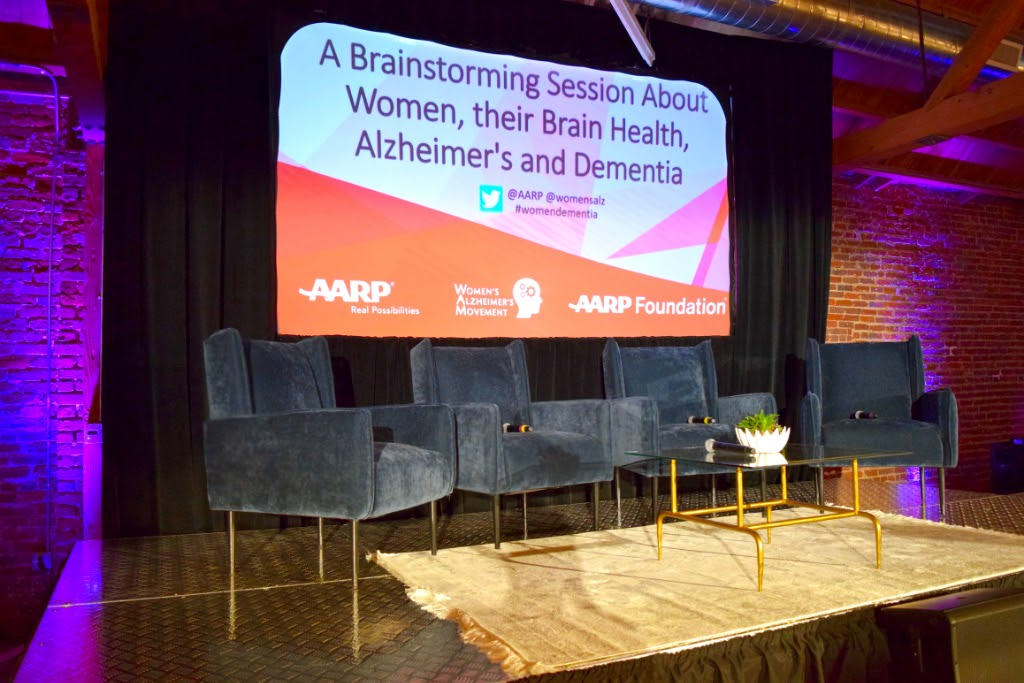 AARP Dinner Meeting Stage for Women's Alzheimer's Movement Wellness with Maria Shriver