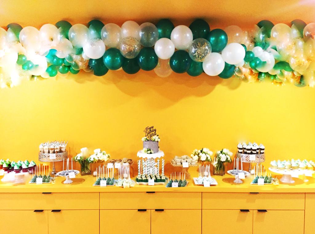 Birthday Desserts Display Yellow Hall