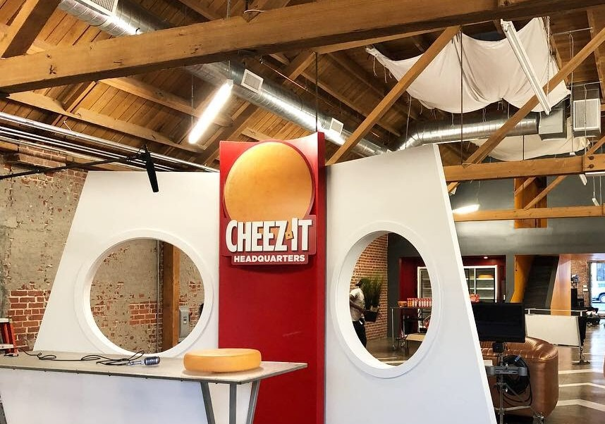 Cheez-It TV Commercial Shoot Behind-the-Scenes Set
