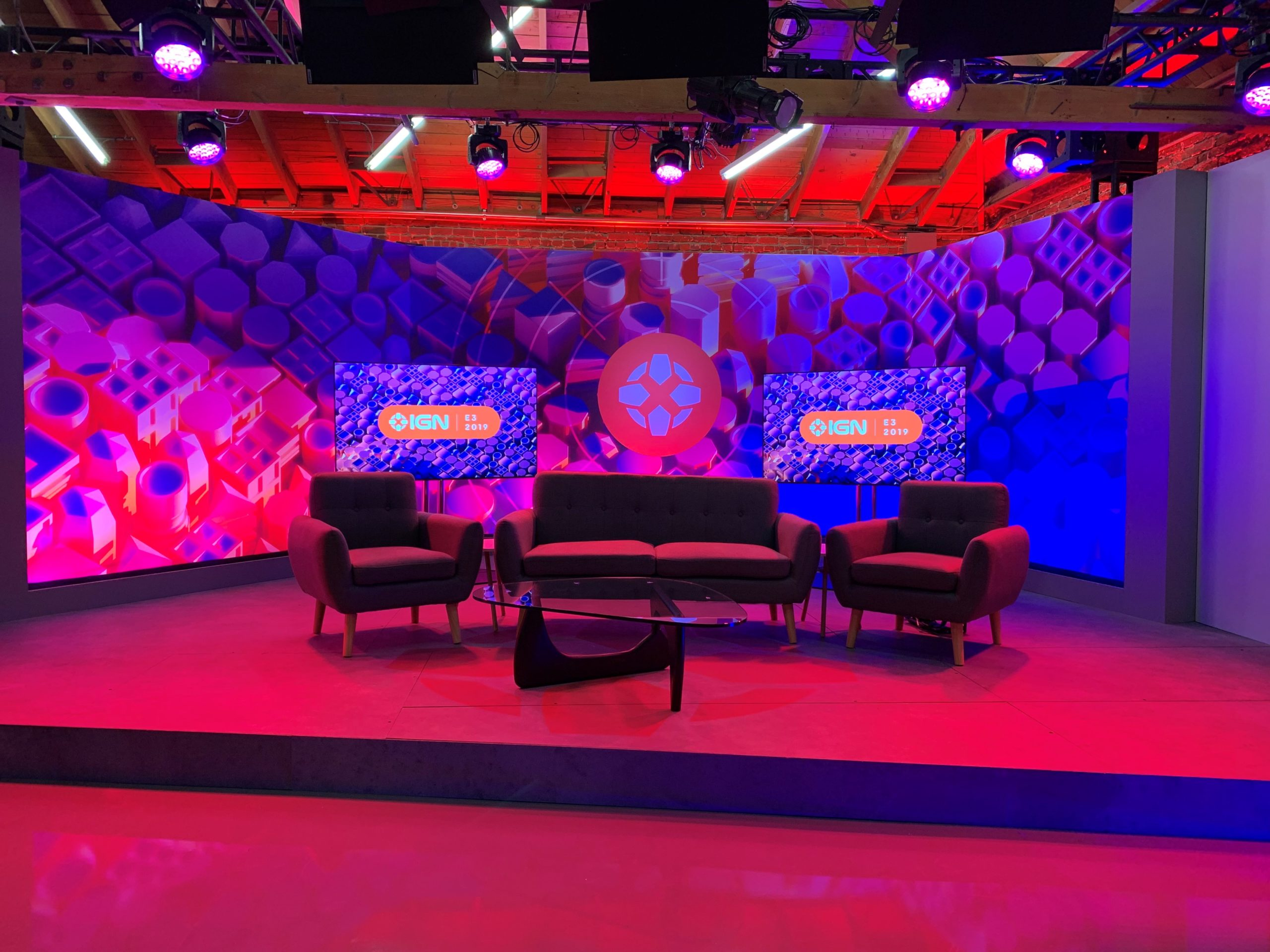 IGN E3 2019 Blank Stage Set Behind-the-Scenes
