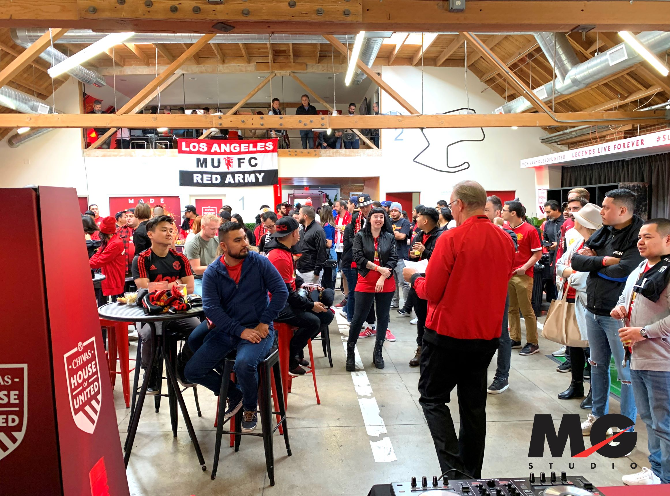 Manchester United Football Club Viewing Party Back Room