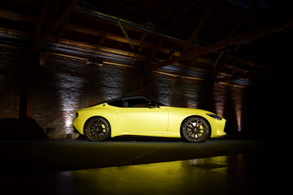Nissan Z Prototype Press Reveal Staged Side