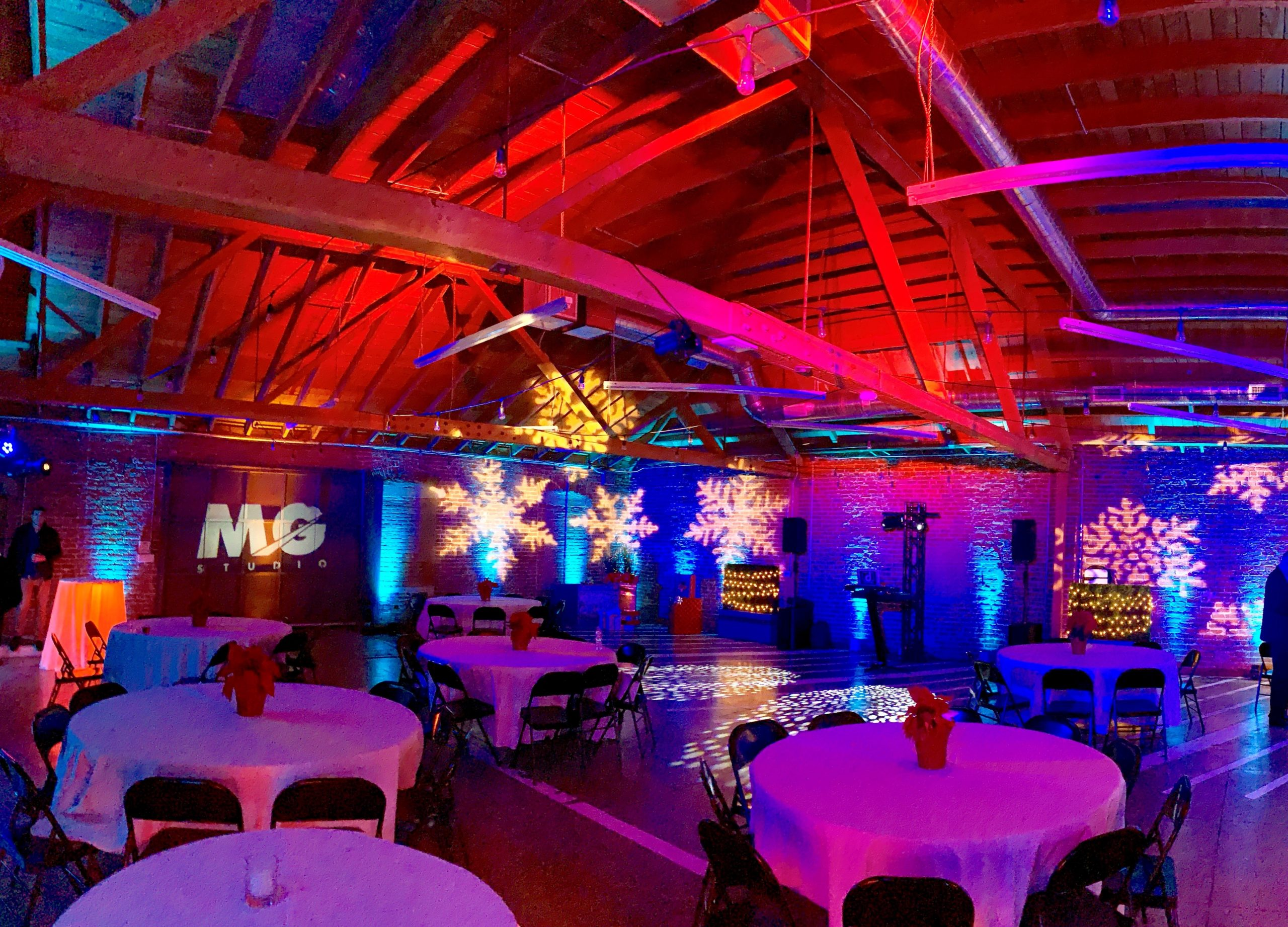 Team Holiday Party Lights