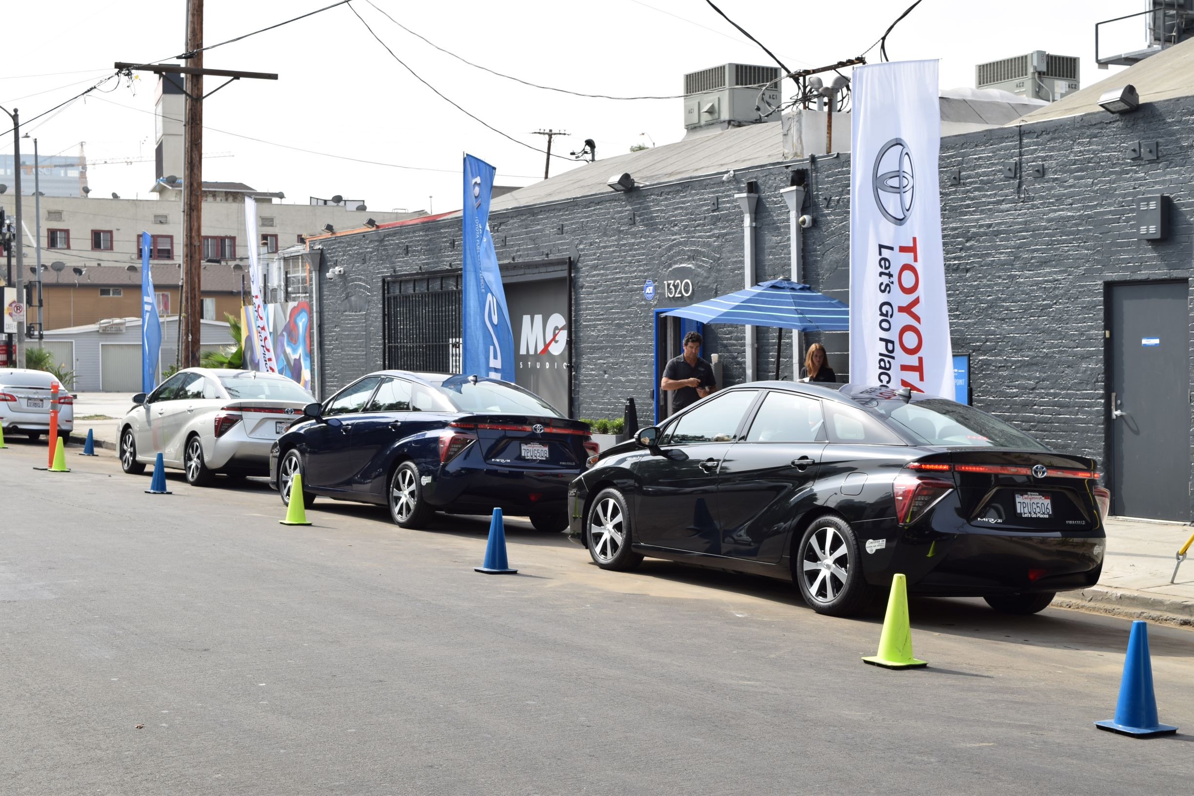 Toyota Mirai Conumer Event Ride Drive Lineup on Connecticut St. Cars